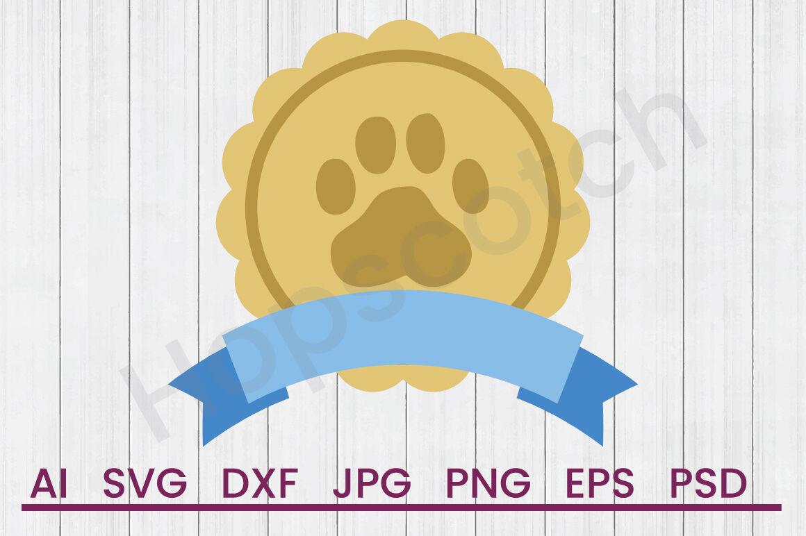 Pet Paw Banner Svg File Dxf File By Hopscotch Designs