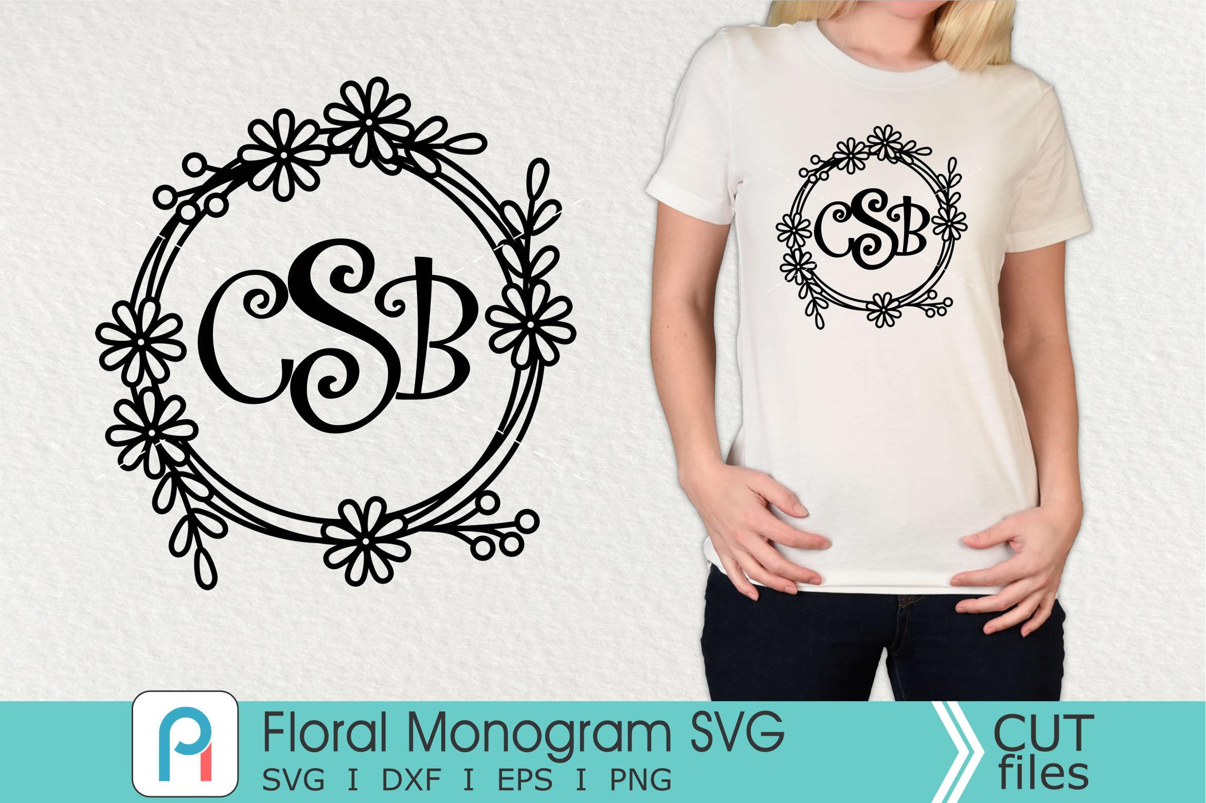 Floral Monogram Svg Floral Svg Floral Clipart By Pinoyart