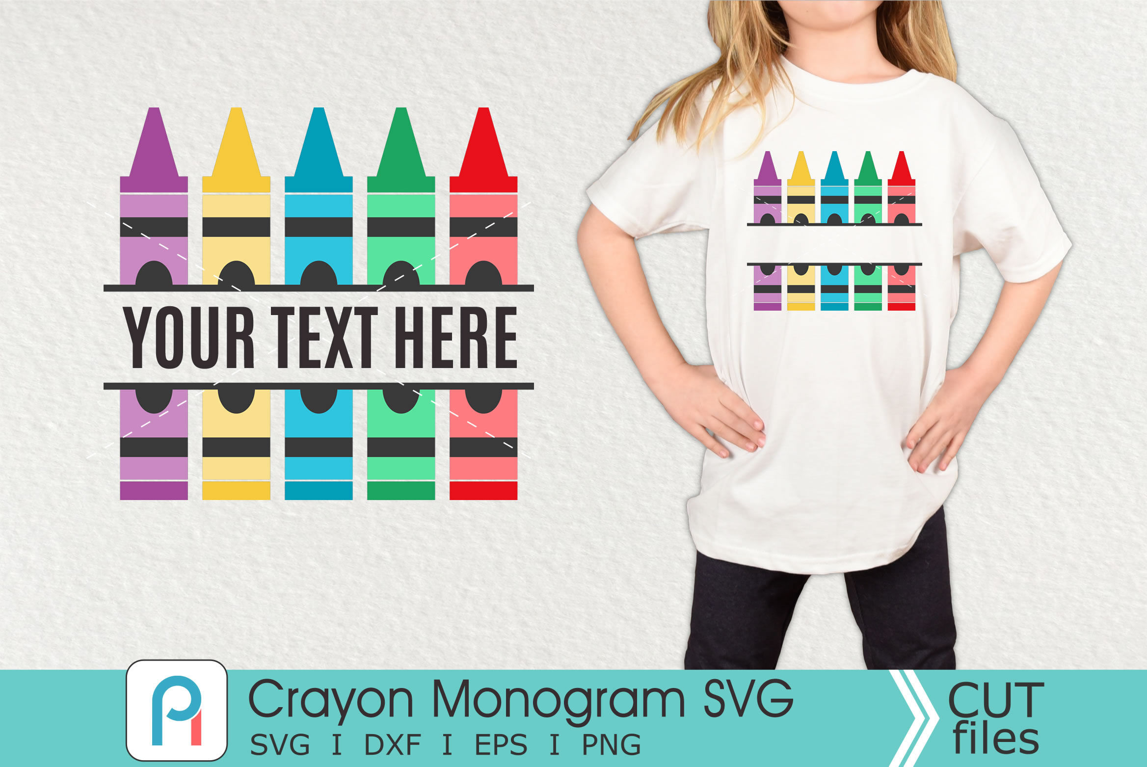 Crayon Monogram Svg Crayon Svg Crayon Clip Art By Pinoyart