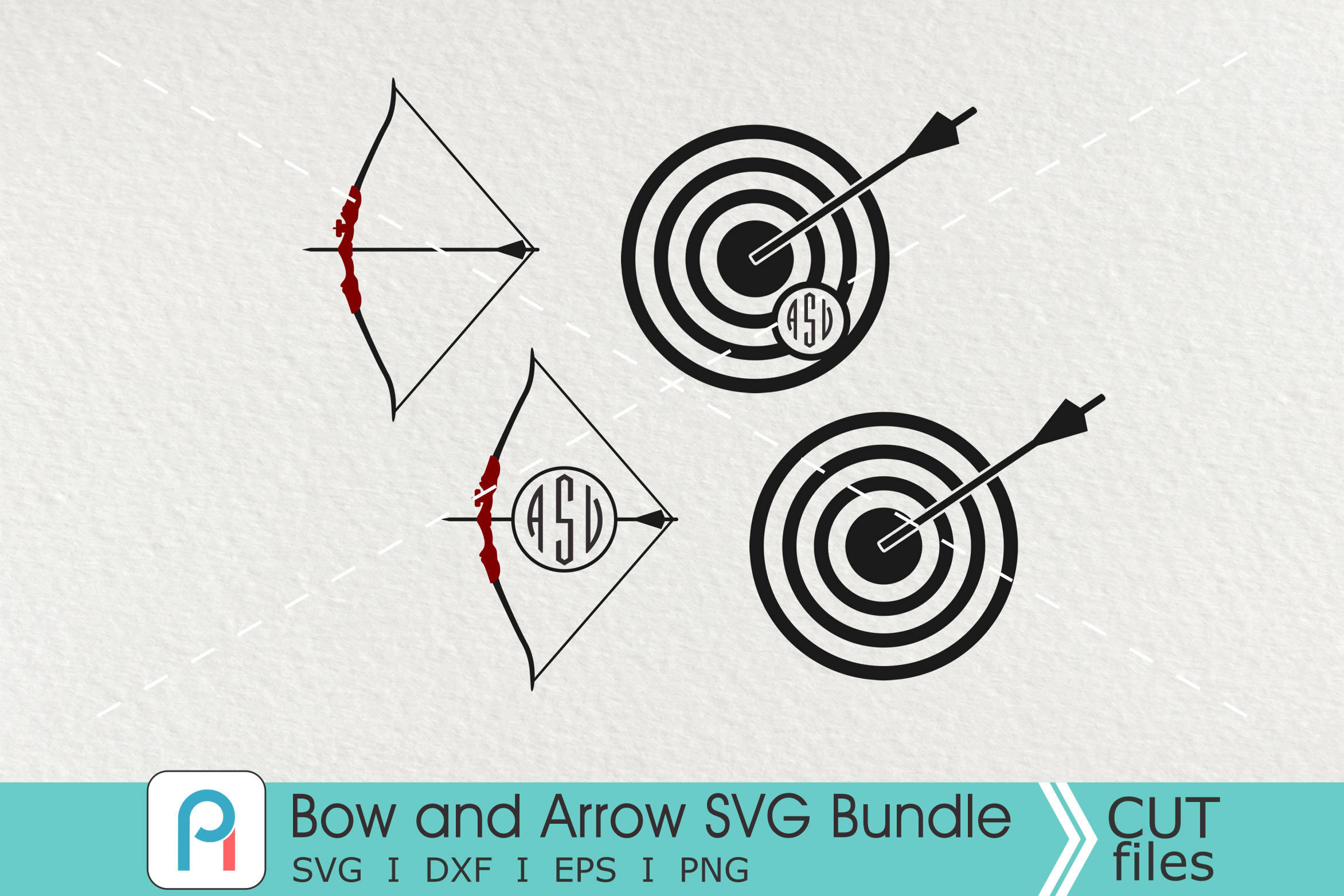 Bow And Arrow Svg Archery Svg Bow Svg Arrow Svg By Pinoyart