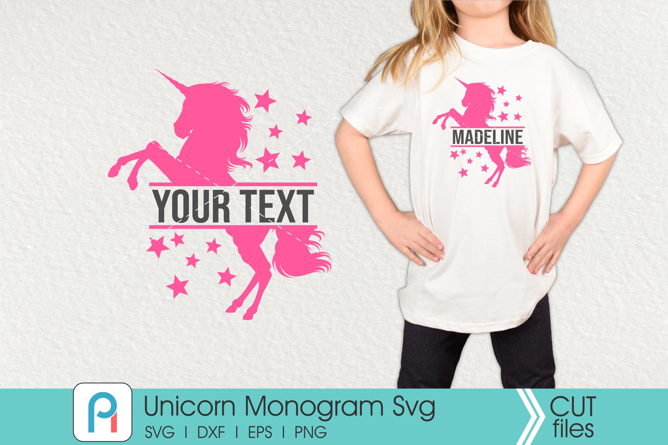 Unicorn Monogram Svg Unicorn Svg Unicorn Clip Art By Pinoyart