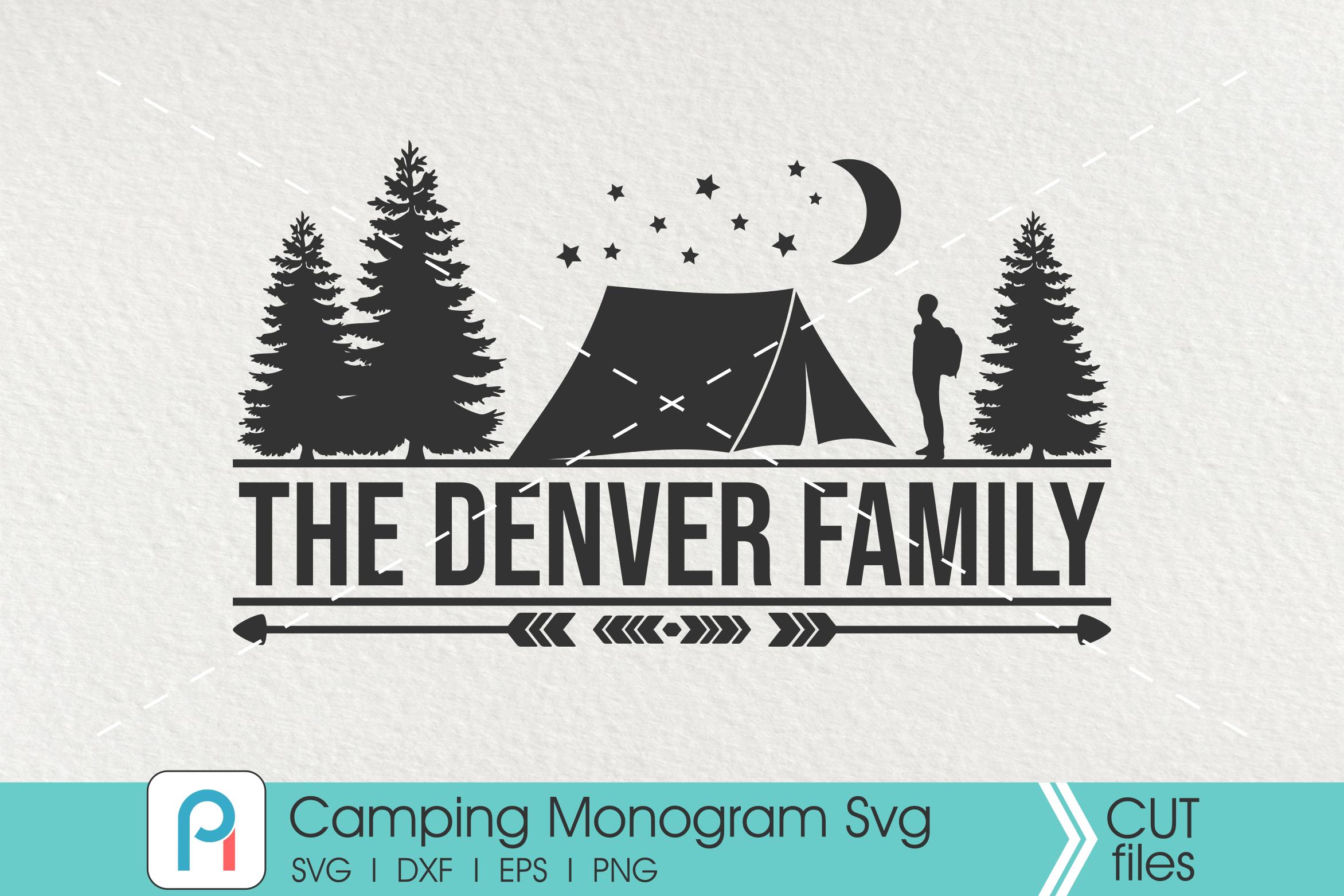 Camping Monogram Svg Camper Svg Camping Clip Art By Pinoyart