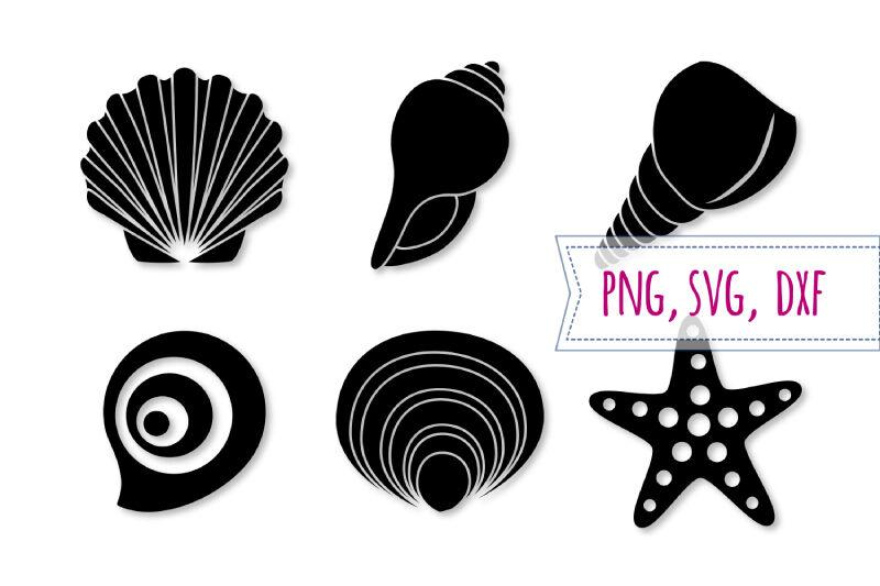 Shell Svg Set Starfish Svg Seashell Clipart Beach Cut File By