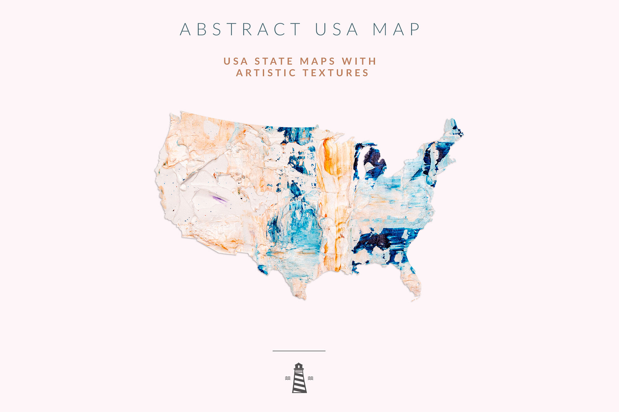 Map Of North America 50 States.Usa State Maps 50 States Shapes By North Sea Studio Thehungryjpeg Com