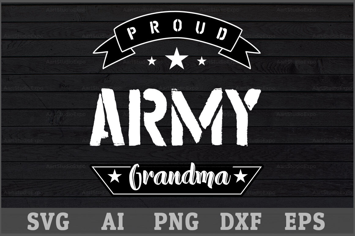 Proud Army Grandma Svg Design By Creative Art Thehungryjpeg Com