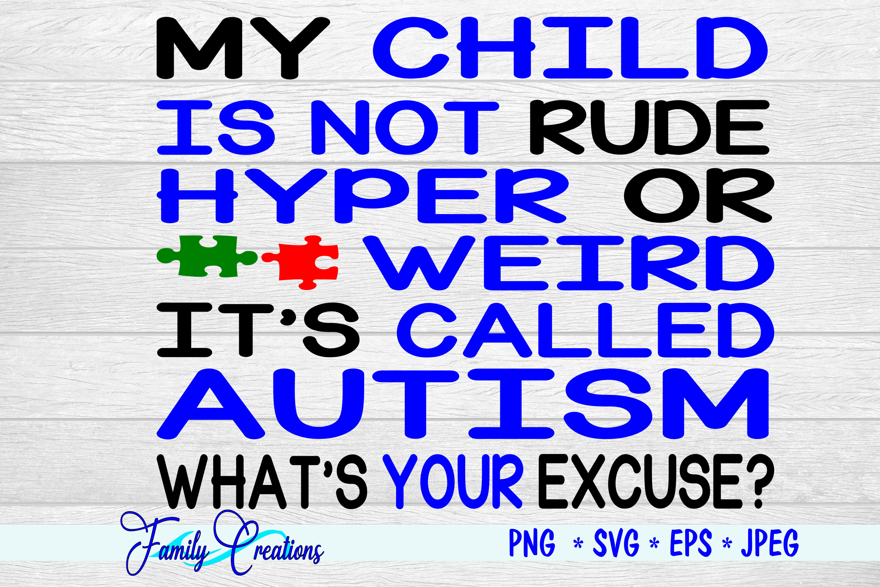 My Child Is Not Rude Hyper Or Weird It S Called Autism By Family