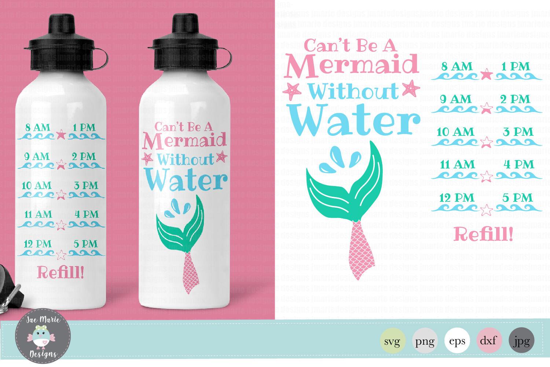 Mermaid Water Bottle Tracker Svg By Jae Marie Digital Designs