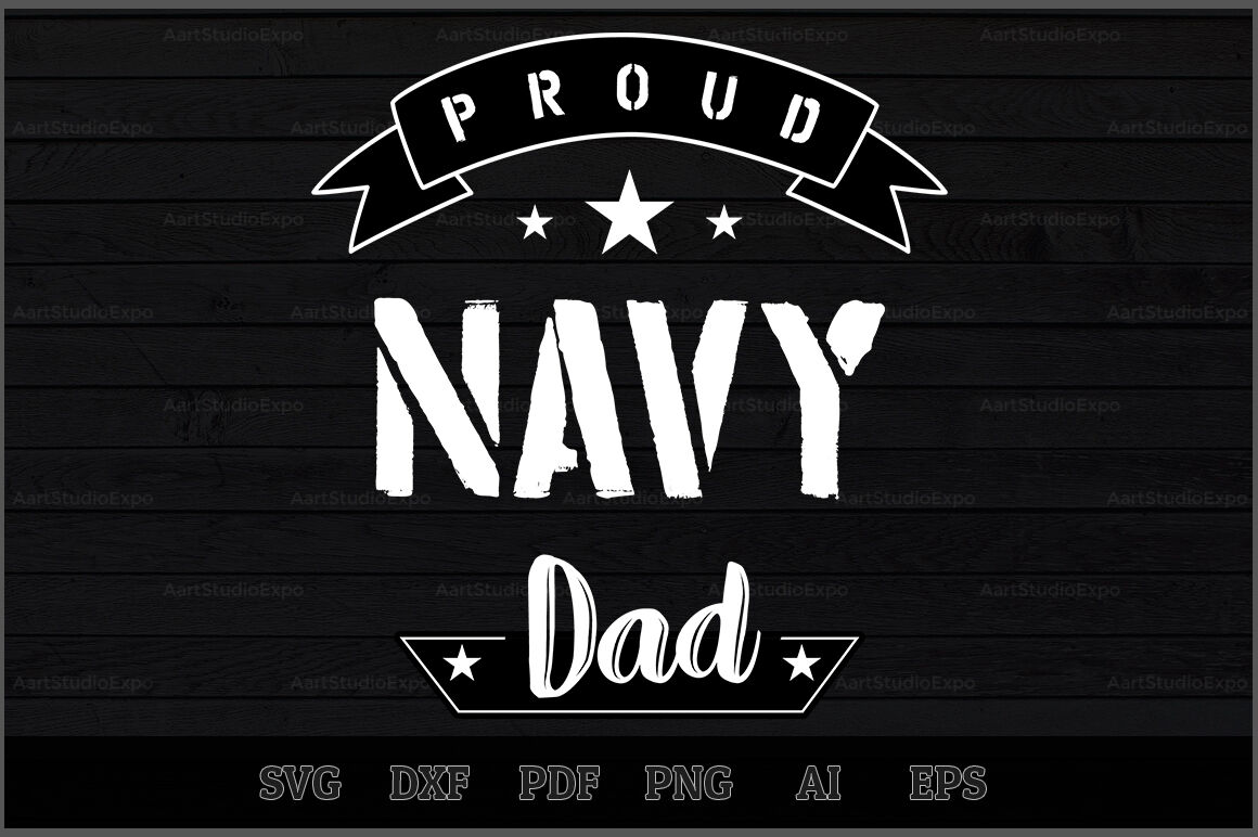 Proud Navy Dad Svg Design By Creative Art Thehungryjpeg Com