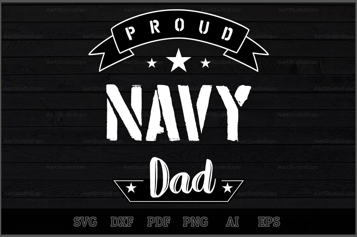 Proud Navy Dad Svg Design By Creative Art Thehungryjpeg Com