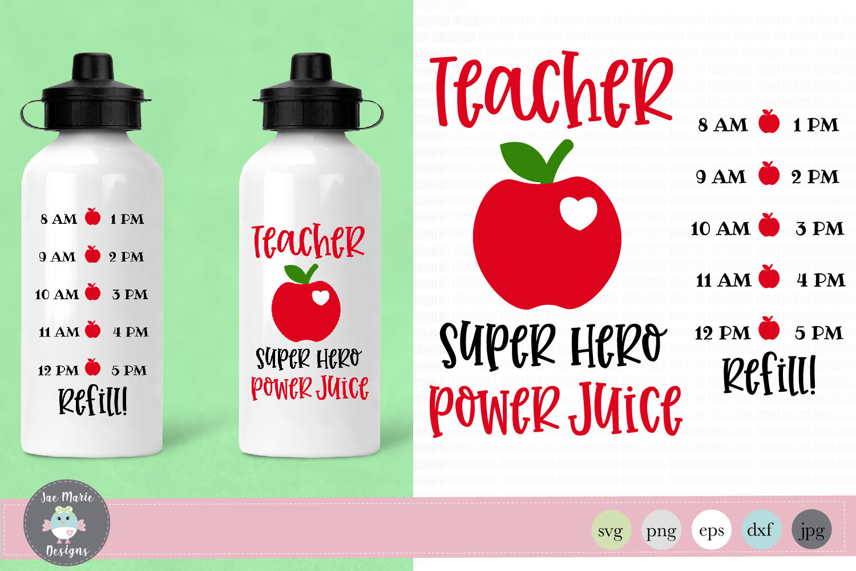 Teacher Water Bottle Svg Teacher Gift Svg By Jae Marie Digital