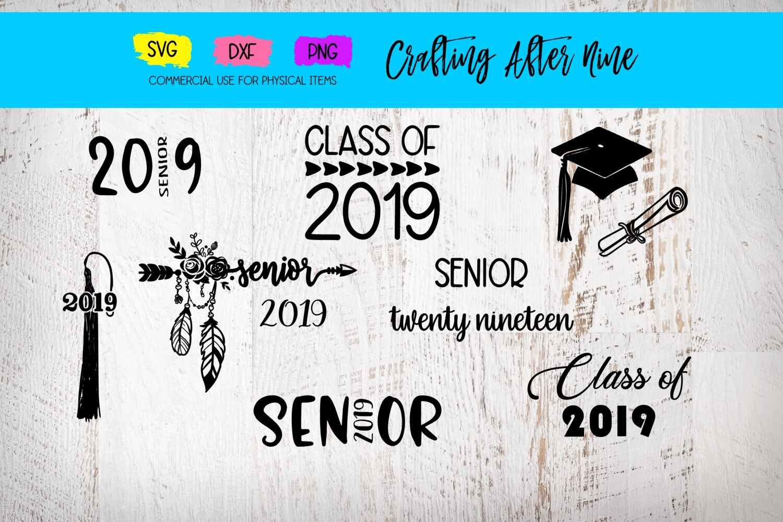 Senior 2019 Svg Graduation Bundle Diploma Graduation Cap Class
