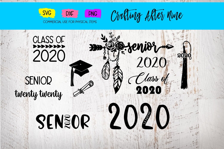 Senior 2020 Svg Graduation Bundle Diploma Graduation Cap Class