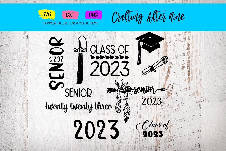 Senior 2023 Svg Graduation Bundle Diploma Graduation Cap Class
