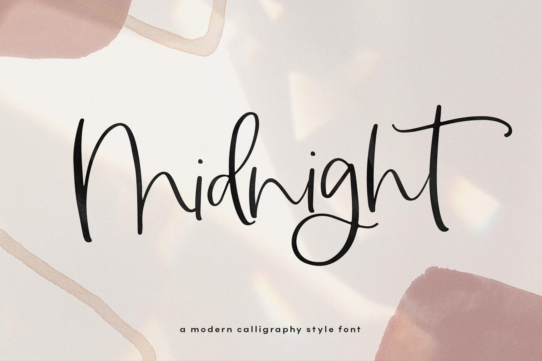 Midnight A Handwritten Script Font By Ka Designs Thehungryjpeg Com