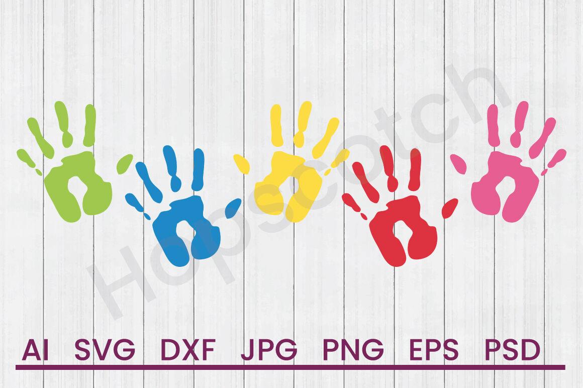 Hand Prints Svg File Dxf File By Hopscotch Designs