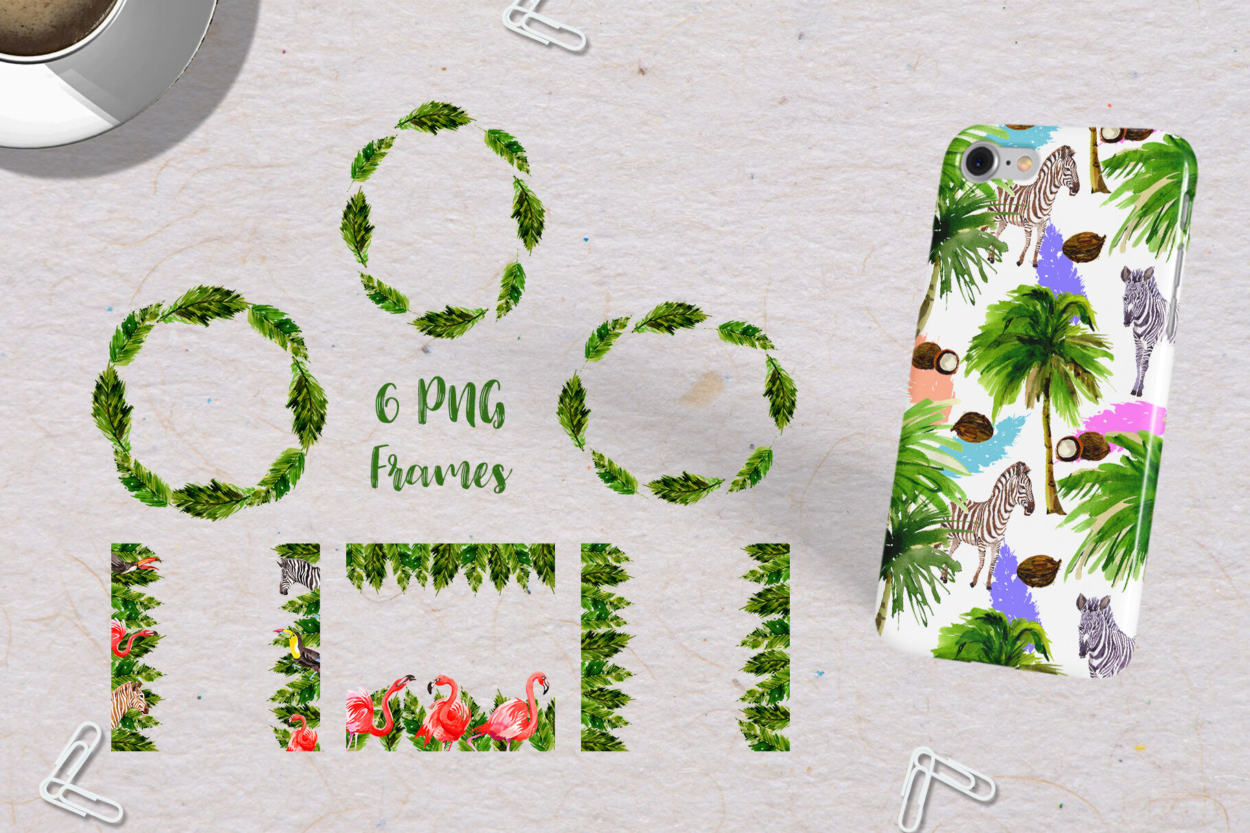 Palm Tree Png Watercolor Set By Watercolordeal Thehungryjpeg Com