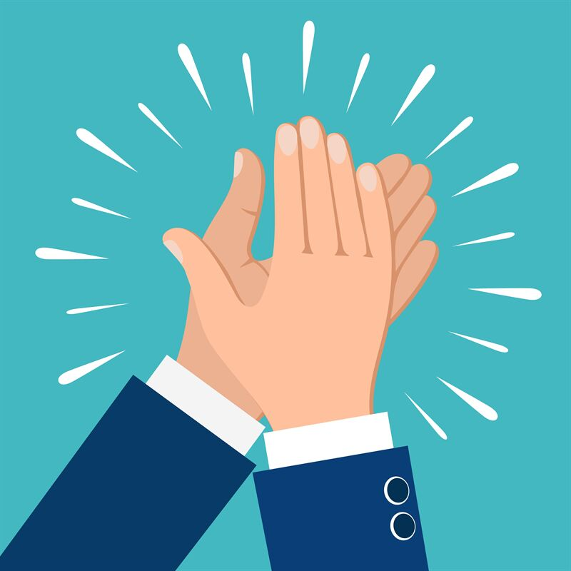 Clapping hands icon By vectortatu | TheHungryJPEG.com