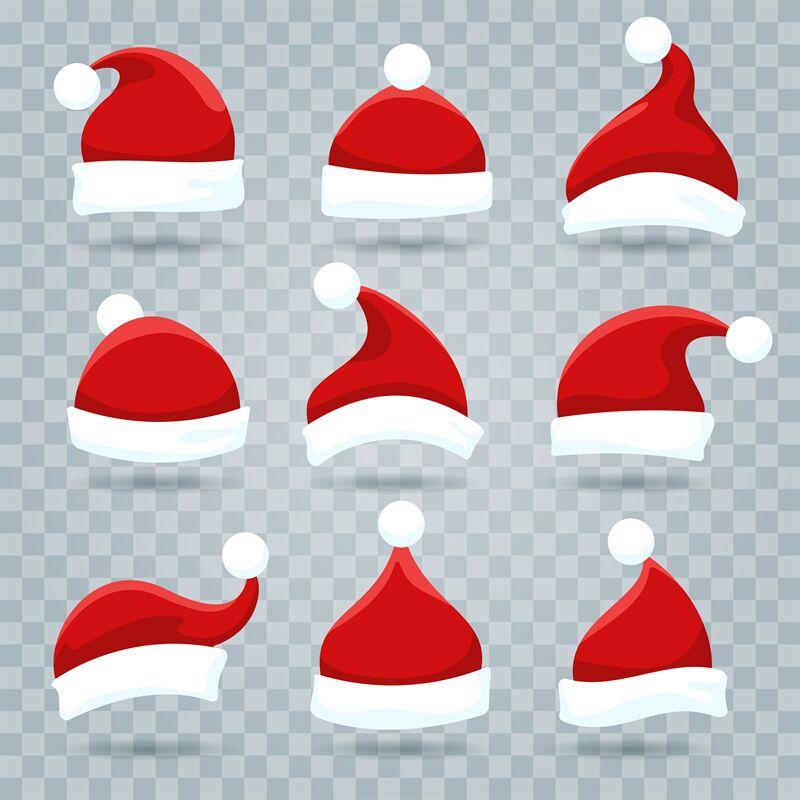 Santa Christmas Hat Set By Vectortatu Thehungryjpeg Com
