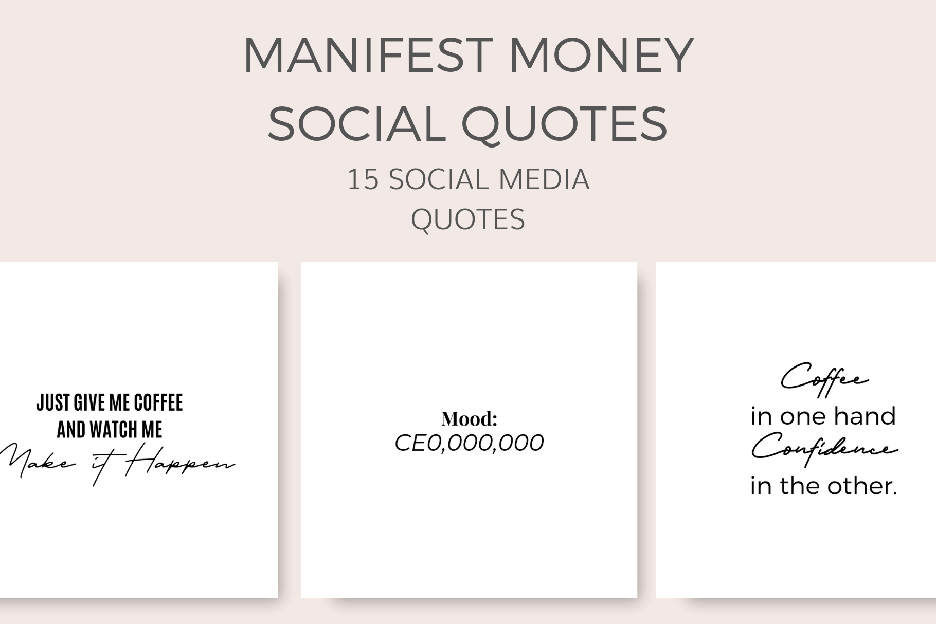 Manifest Money Social Quotes By Ivorymix Thehungryjpeg Com