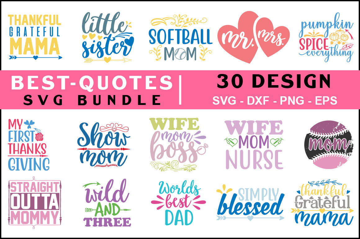 best quotes svg bundle vol t shirt design by teewinkle