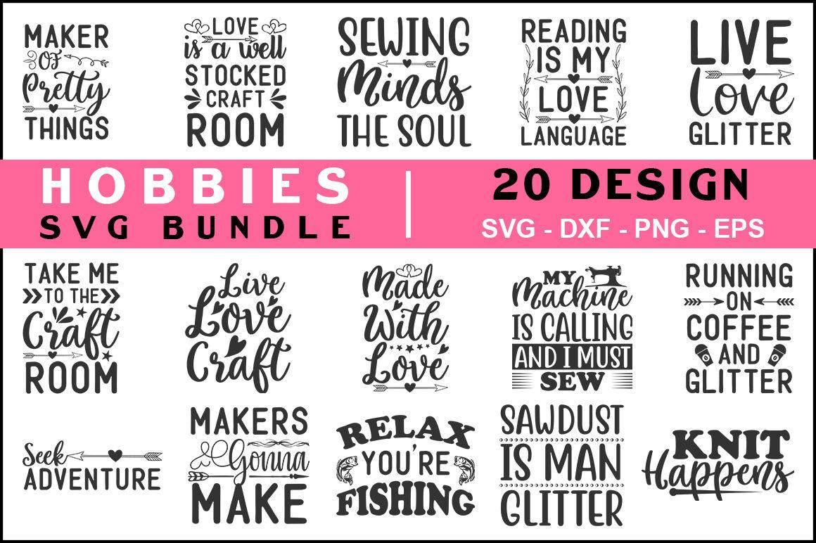 Hobbies Svg Bundle Vol 02 T Shirt Design By Teewinkle