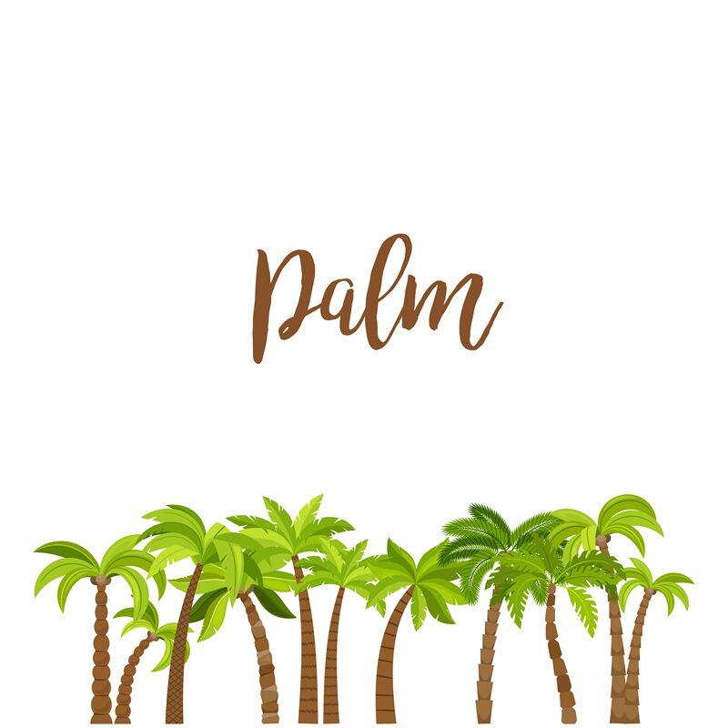 Cartoon Colored Palm Trees Forest By Smartstartstocker