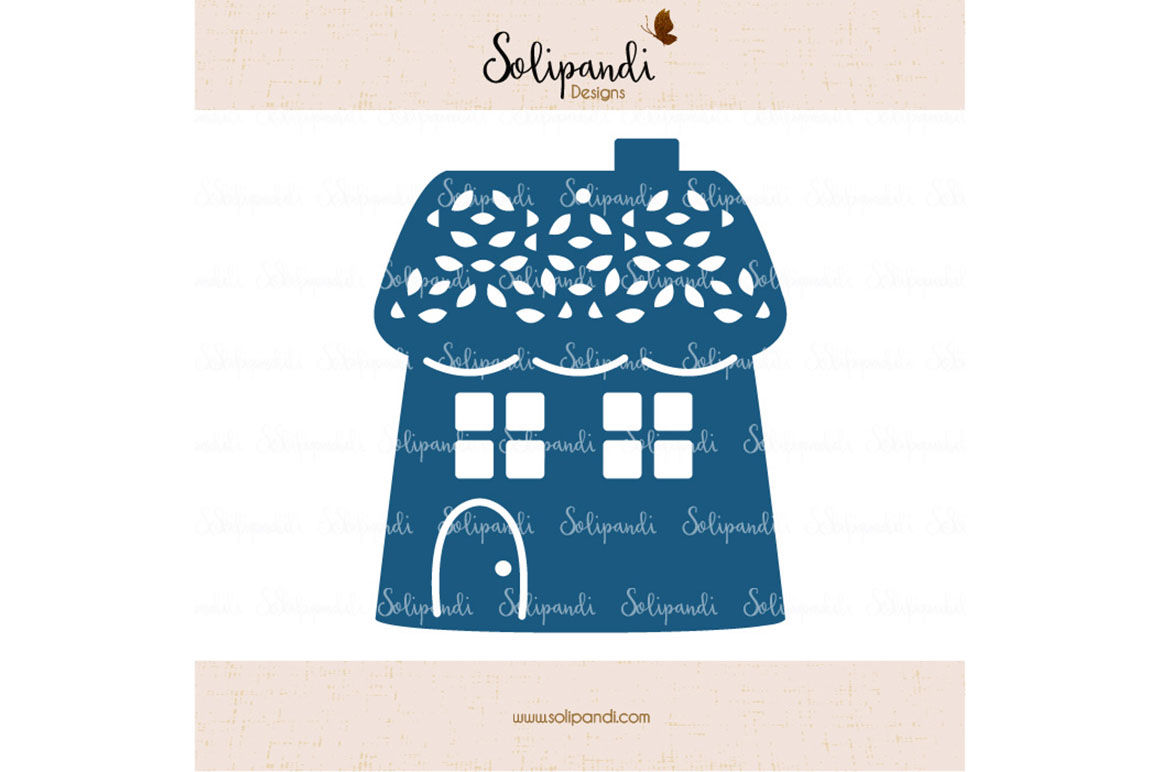 Christmas House Svg Cut Files Svg And Dxf Cut Files For