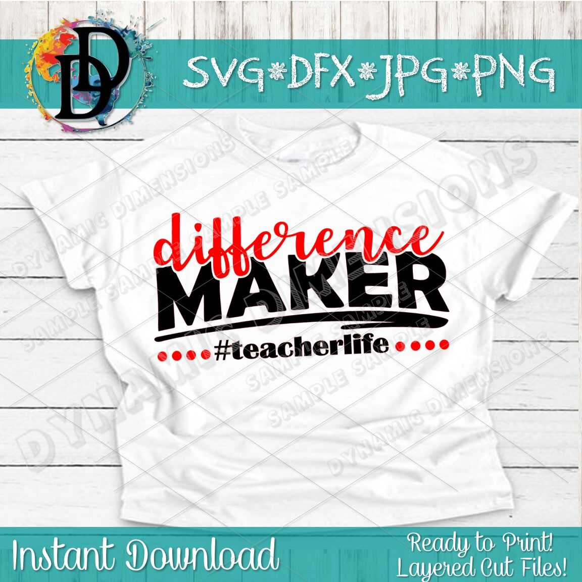 Teacher Svg Teacher Shirt Teacher Shirt Svg Difference Maker