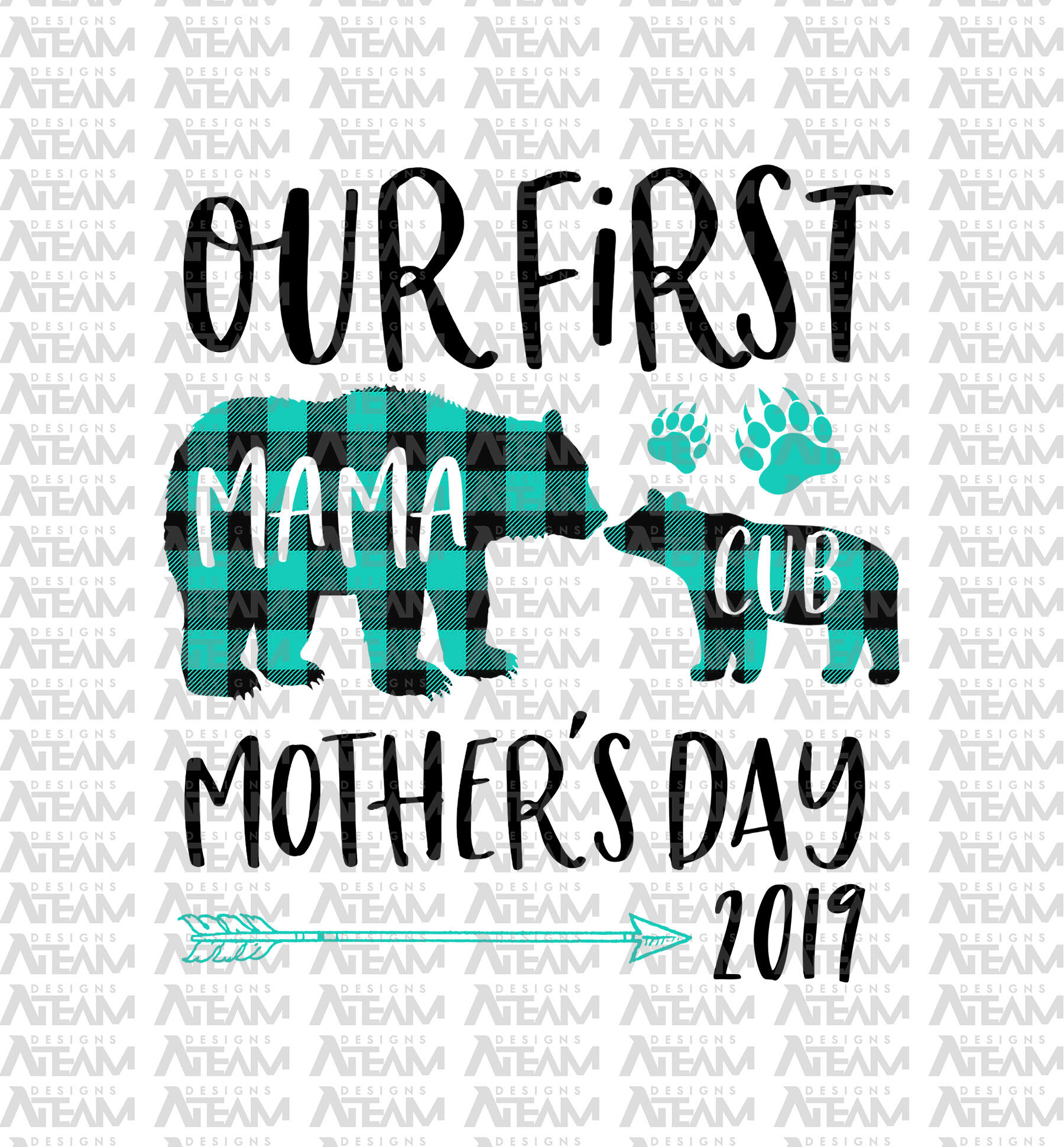 Our First Mother S Day 2019 Mama Bear Png Mothers Day Png I By