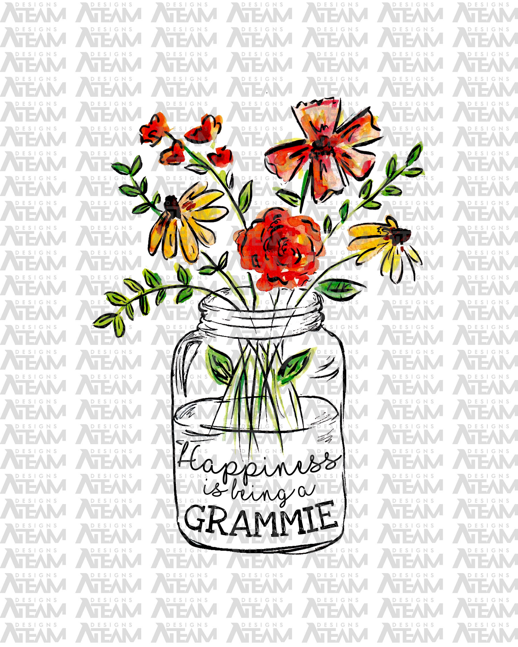 Happiness Is Being A Grammie Mothers Day Png Instant Download