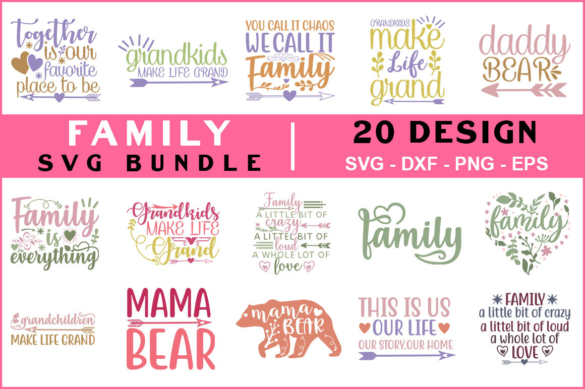 Family Quotes Svg Bundle By Teewinkle Thehungryjpeg Com