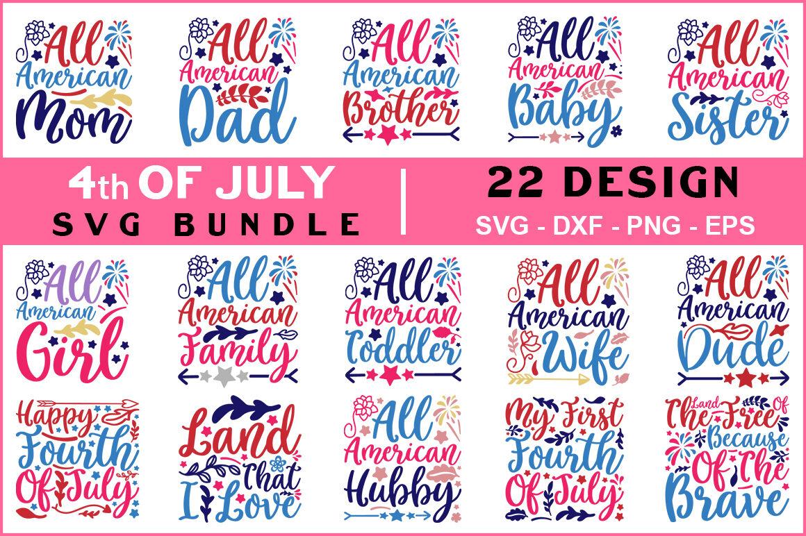4th Of July Svg Bundle Vol 06 T Shirt Design By Teewinkle