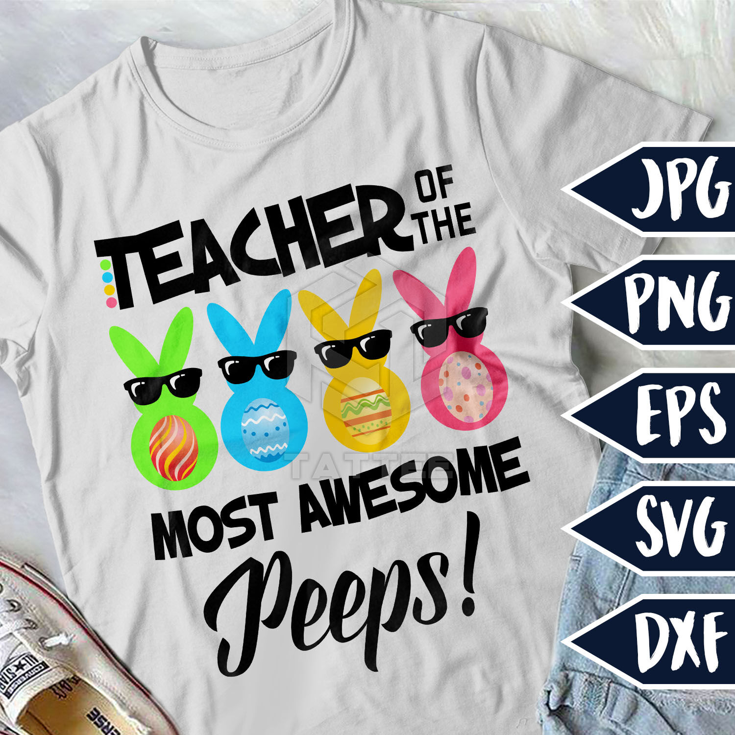 Teacher Of The Most Awesome Peeps Easter Svg Bunny Svg Teacher