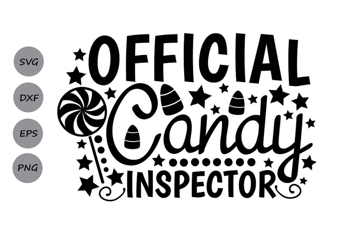 Official Candy Inspector Svg Halloween Svg Candy Corn Svg By