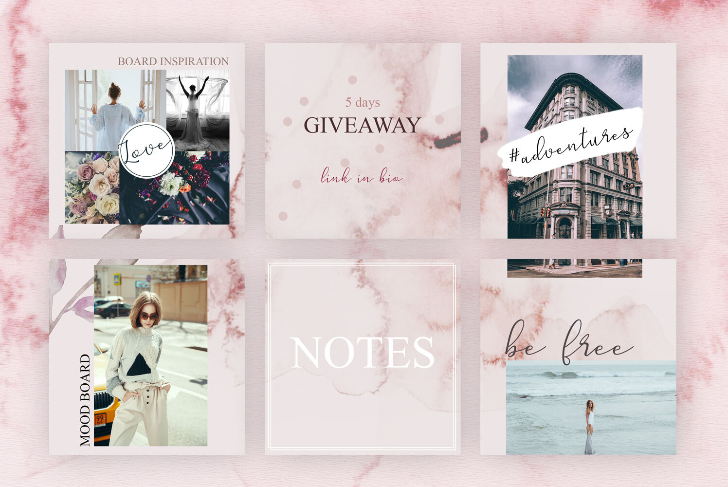 Instagram Puzzle Template Watercolor Romantic By By Olga