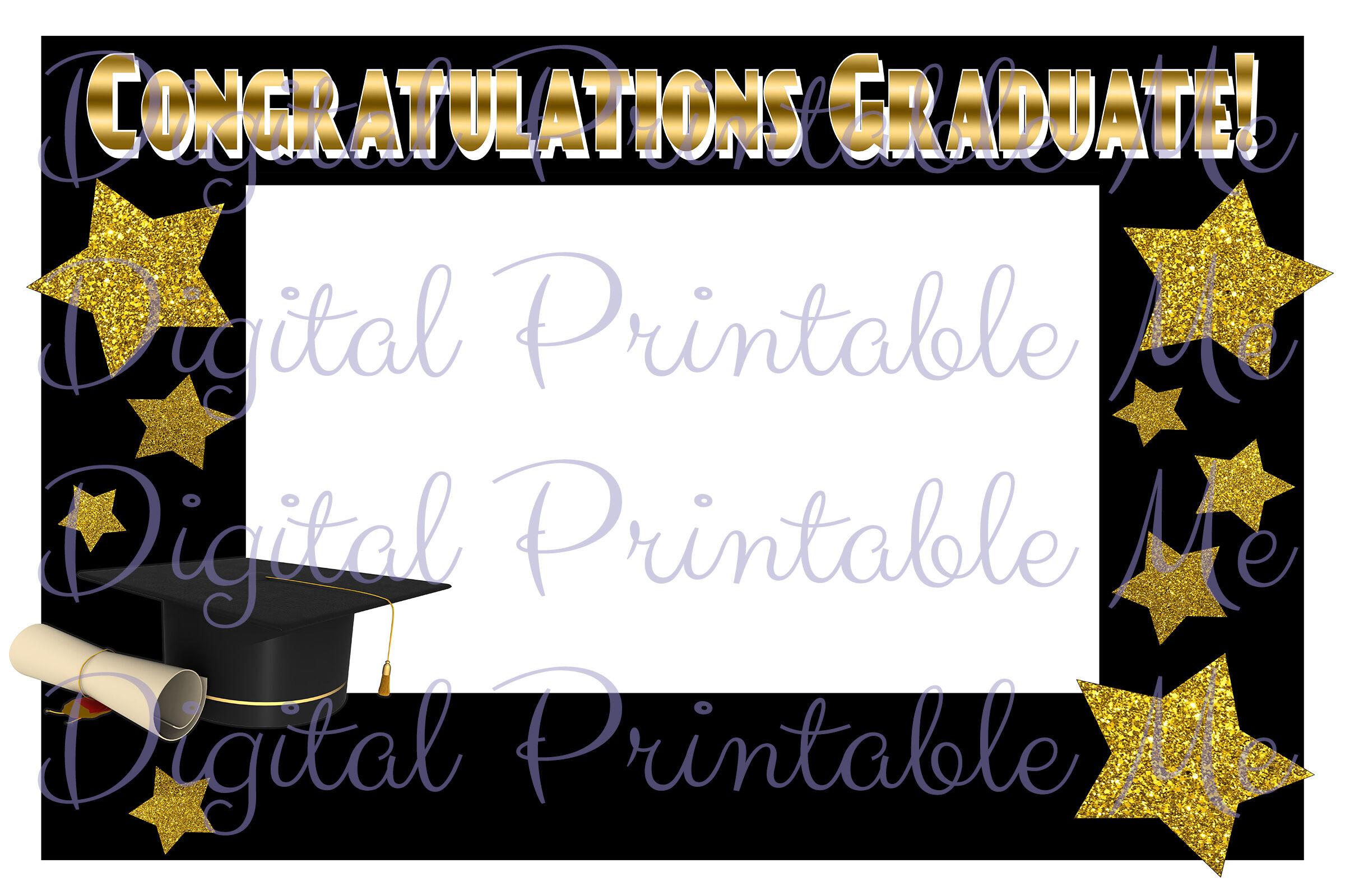 Photo Booth Frame Graduation Decoration Photo Booth Prop Black