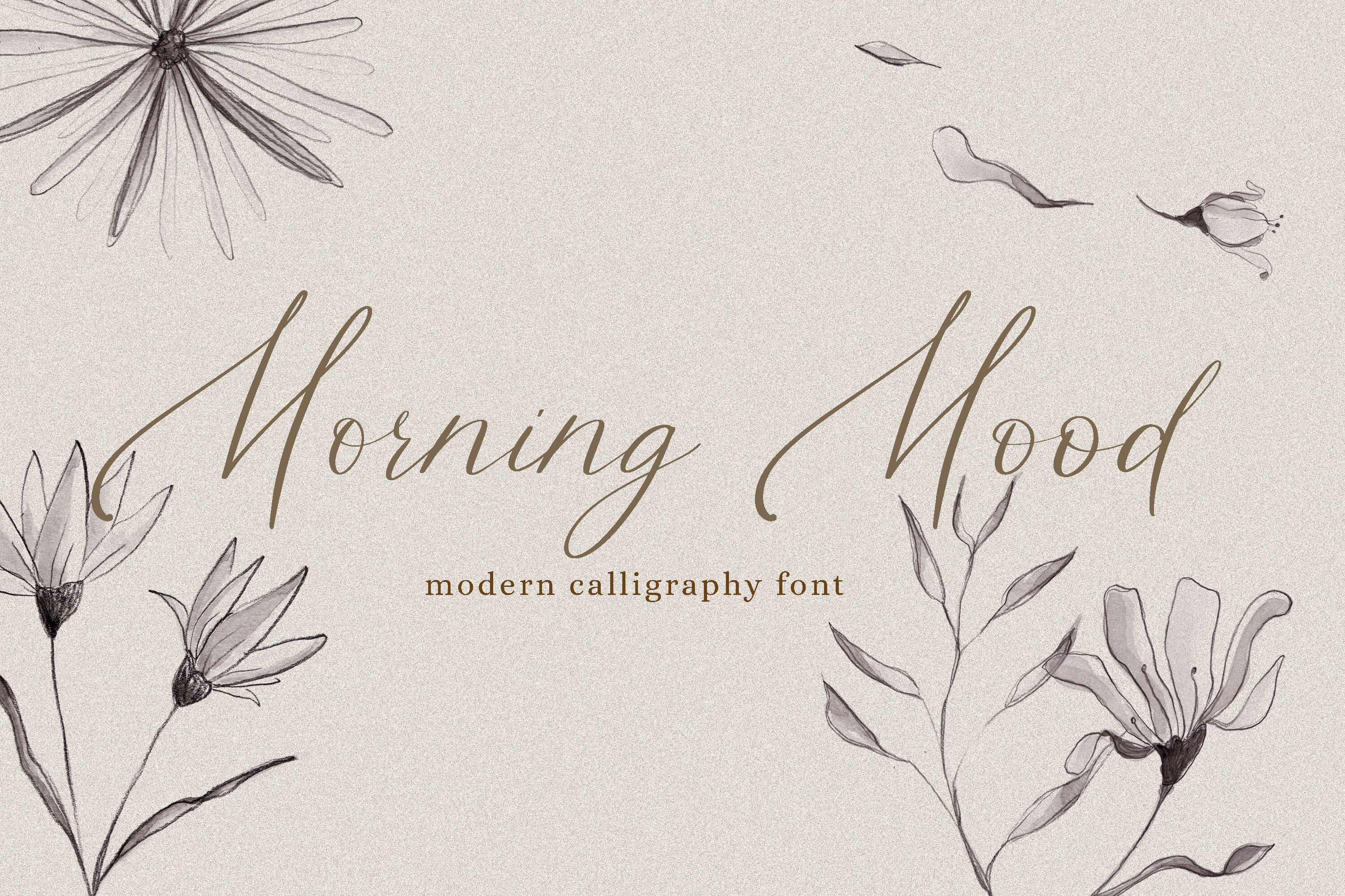 Morning Mood Calligraphy Hand Written Font By Taningreen