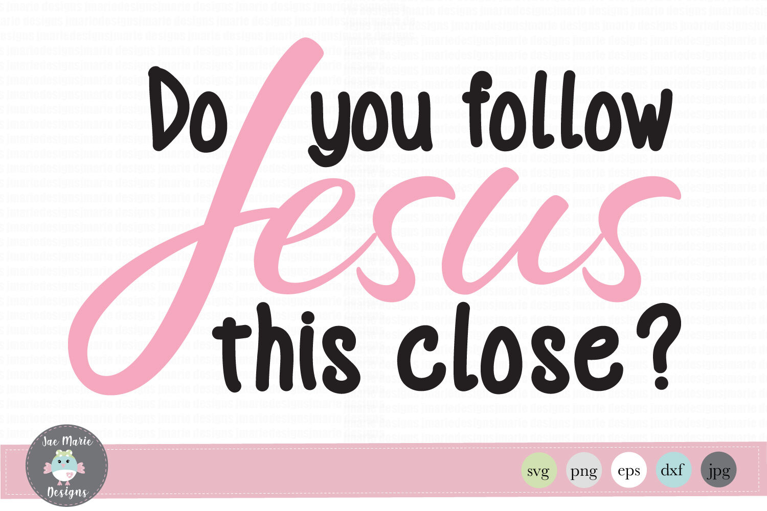 Funny Car Decal Svg Do You Follow Jesus This Close Svg By Jae