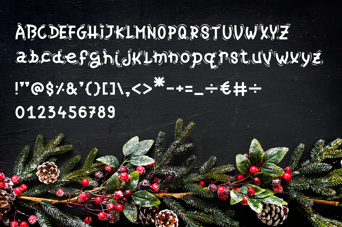 Christmas Candy Decorative Font By Duka Thehungryjpeg Com