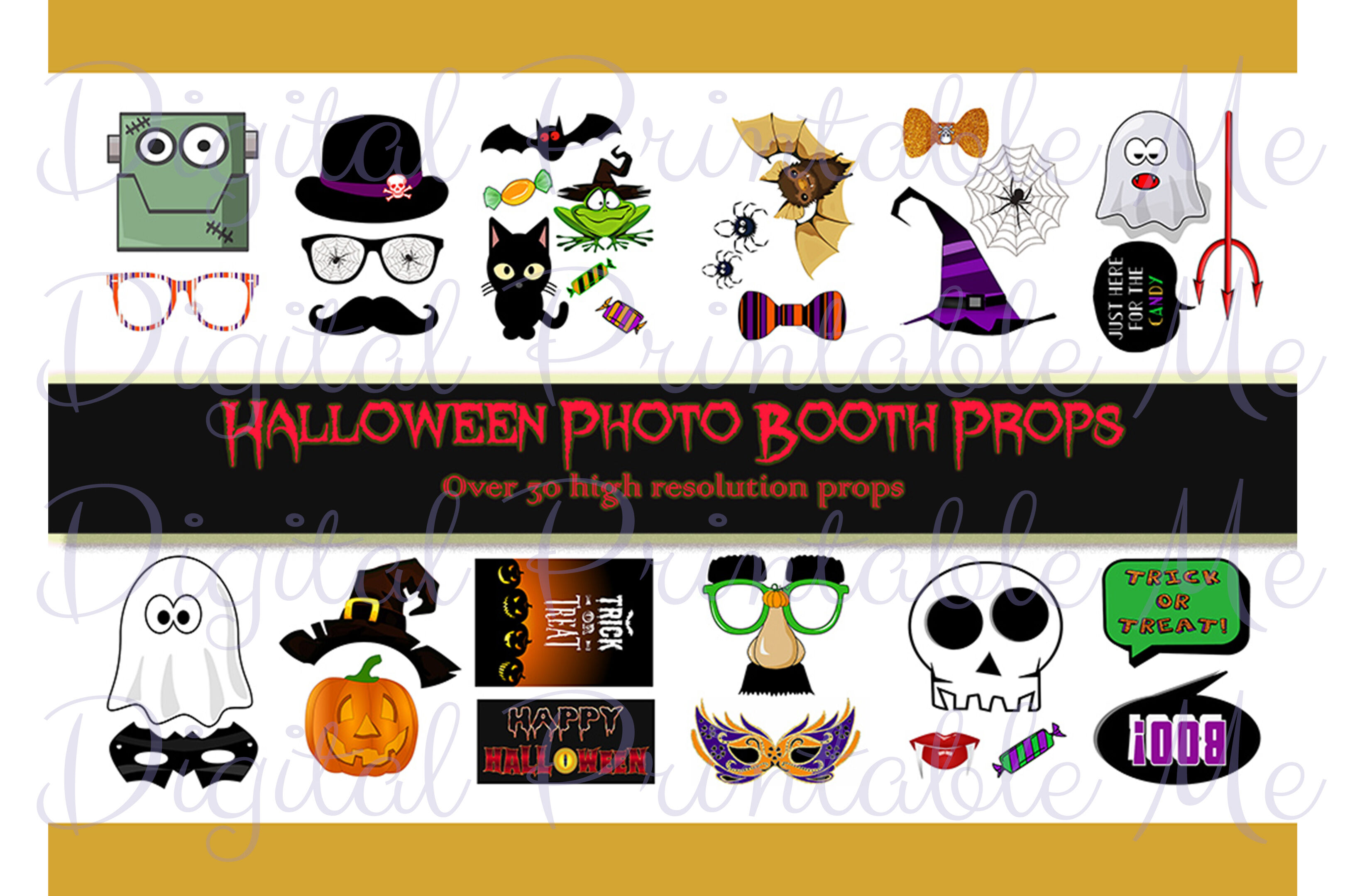 picture regarding Halloween Photo Booth Props Printable named Halloween Picture Booth Props, Printable Photograph Booth Props