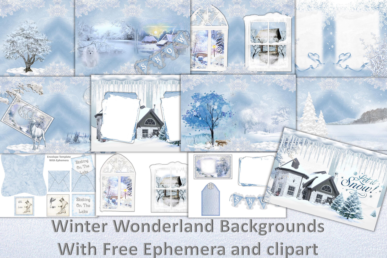 Winter Wonderland Scrapbooking Kit With Free Clipart And Ephemera By The Paper Princess Thehungryjpeg Com