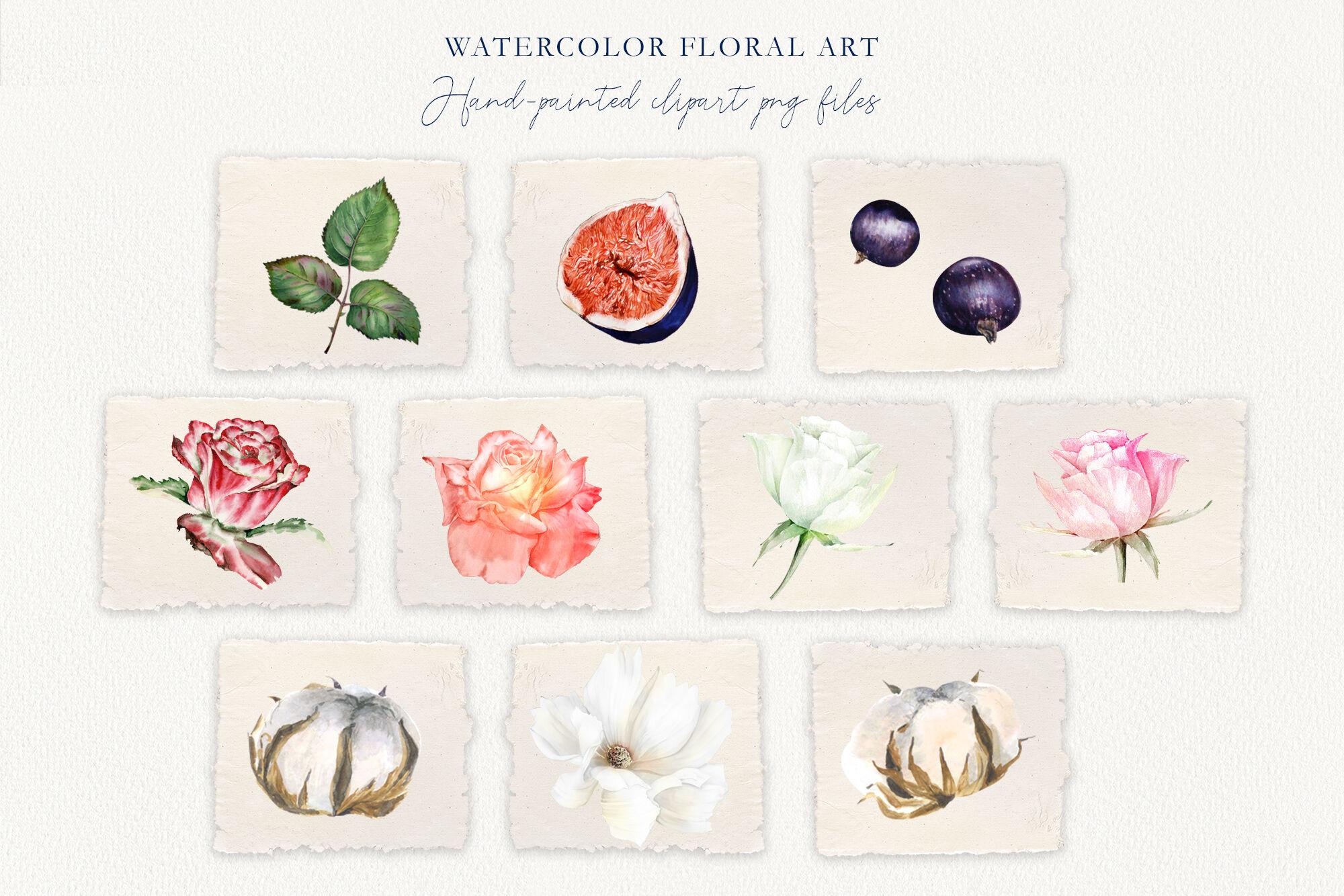 Watercolor Wedding Set Ode de Flora By Olga Koelsch