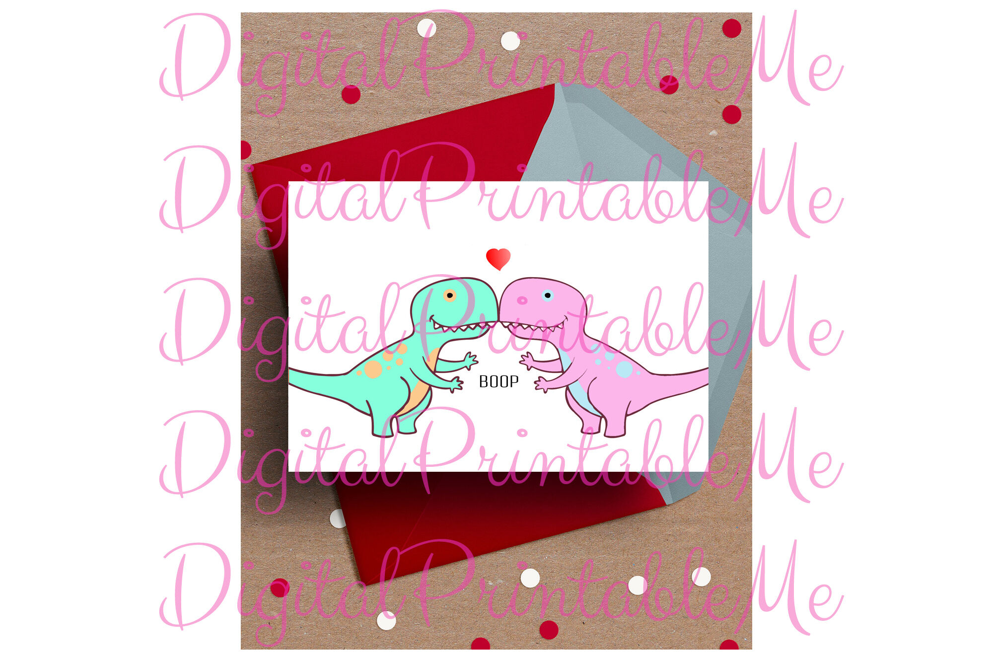 picture about Anniversary Card Printable known as Dinosaur Valentines working day Card, Anniversary Card, Printable