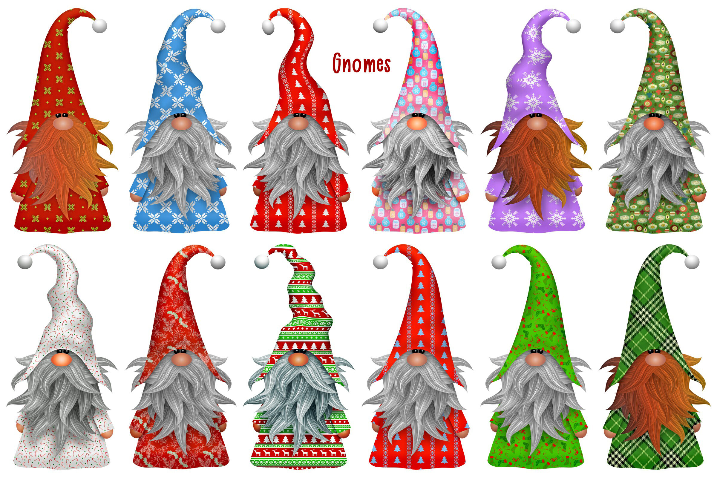 Christmas Gnomes Clipart.Christmas Gnomes And Scenes Clip Art By Me And Amelie