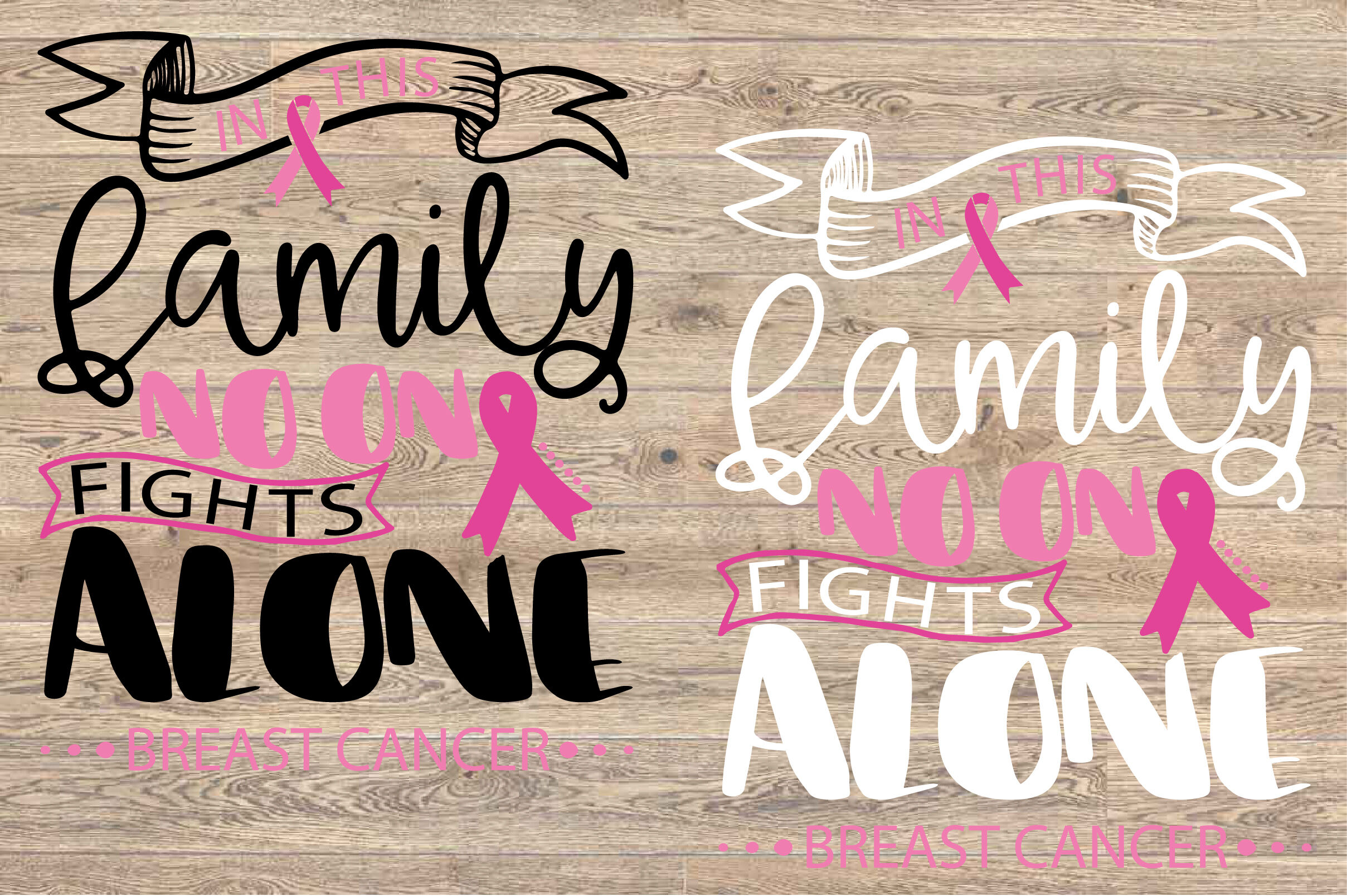 In This Family Nobody Fights Alone Breast Cancer Svg 1519s By