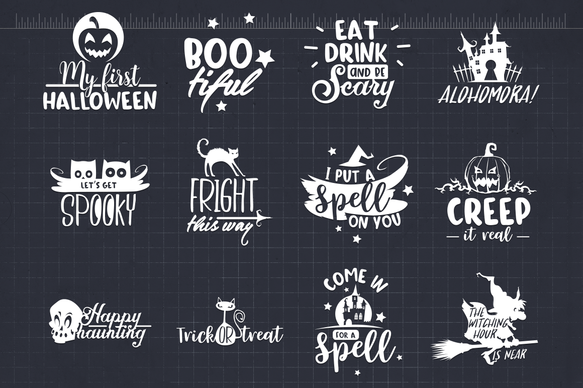 Halloween Quotes Svg.Halloween Quotes Svg Pack Halloween Svg Cut Files By Craft