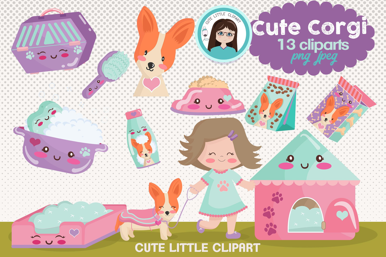 Cute Corgi clipart By Cute Little Workshop | TheHungryJPEG.com (3000 x 2000 Pixel)
