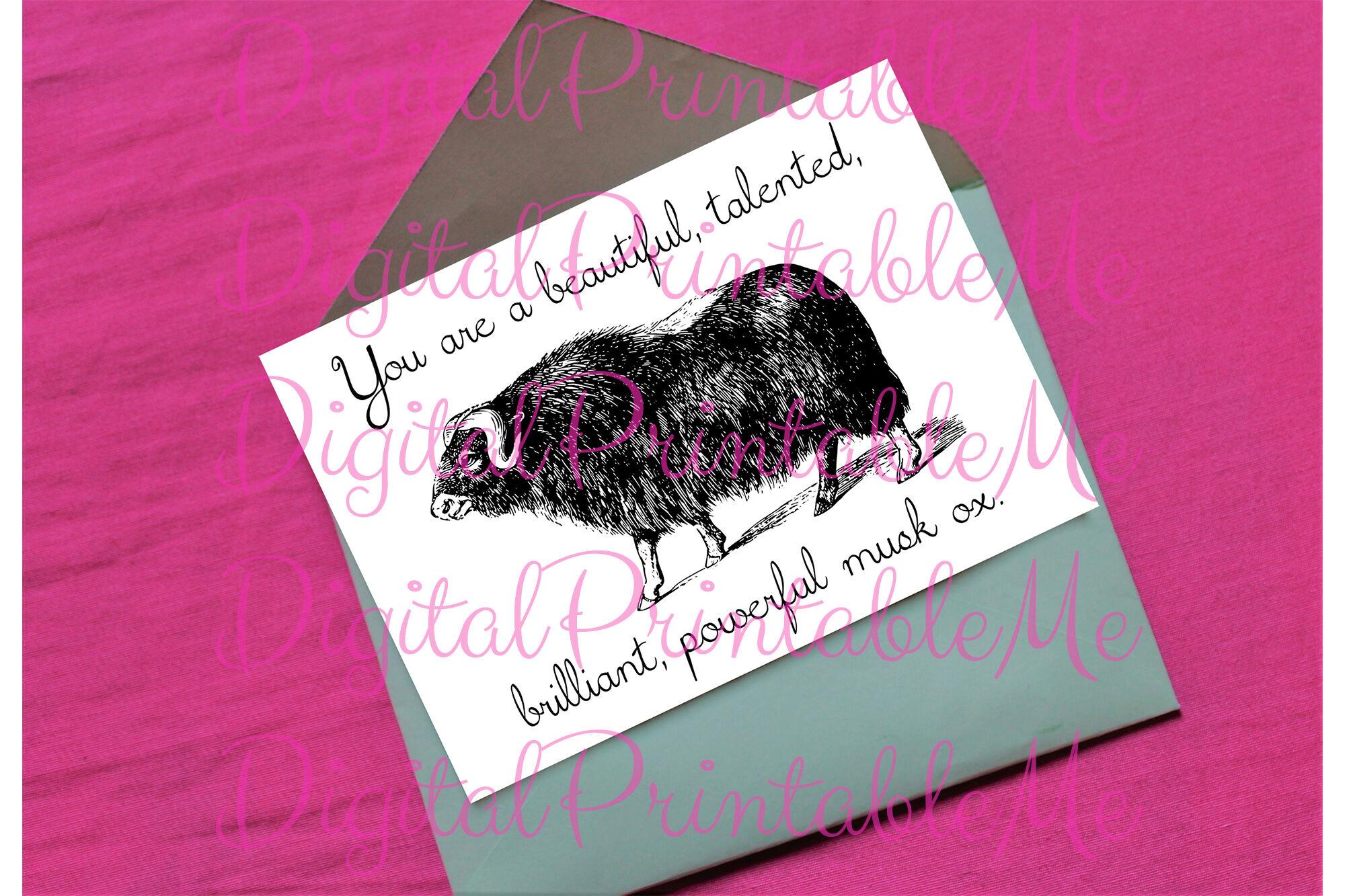 Galentine S Day Card Valentines Card Encouragement Card Powerful Mu By Digitalprintableme Thehungryjpeg Com