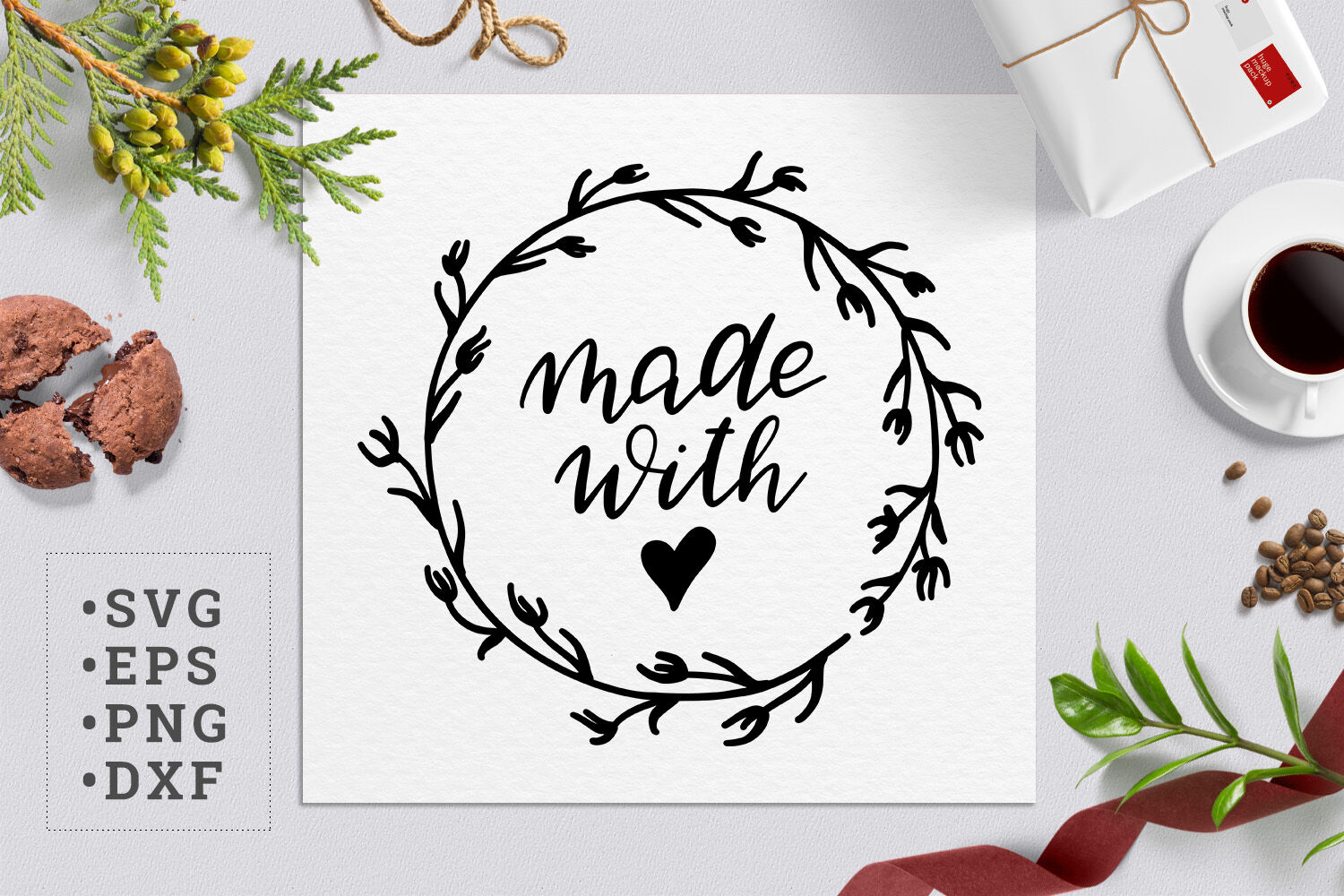 Made With Love Svg By Zzorna Art Thehungryjpeg Com