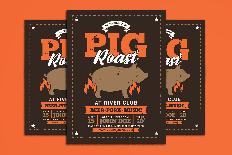 Pig Roast Event By Muhamadiqbalhidayat Thehungryjpeg Com